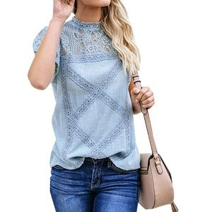 BARCLAY ROAD Lace Embroidered Blouse